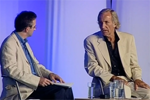 Anthony Hayward and John Pilger, Hay Festival 2006